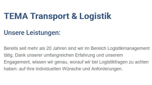 Logistikmanagement in  Reichenbach (Heuberg)