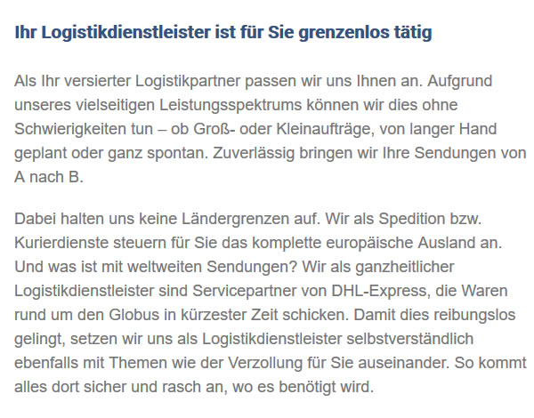 Logistikpartner in  Gosheim
