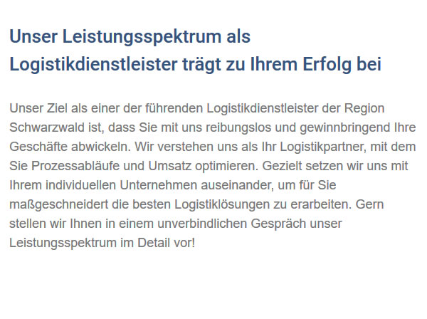 Speditionsfirma für  Grosselfingen