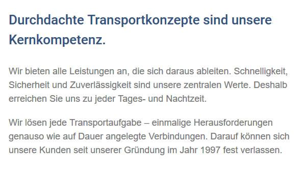 Transportaufgaben für  Seitingen-Oberflacht