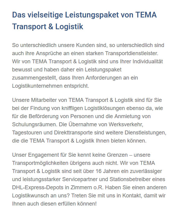 Transportdienstleister in  Bisingen
